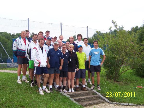 Die Teilnehmer des Doppelturniers
