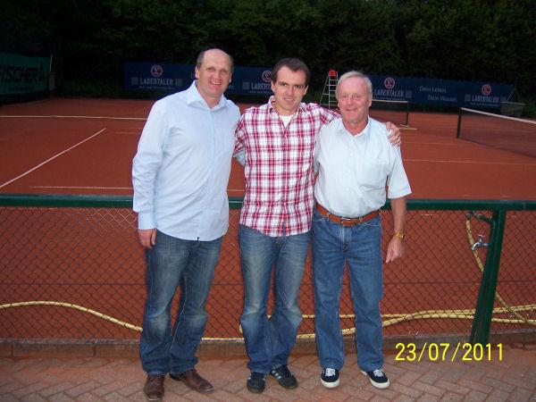 Die ersten drei Sieger des Turniers von links: Christian Blaschko, Bernhard Haberstetter, Gerd Zinner