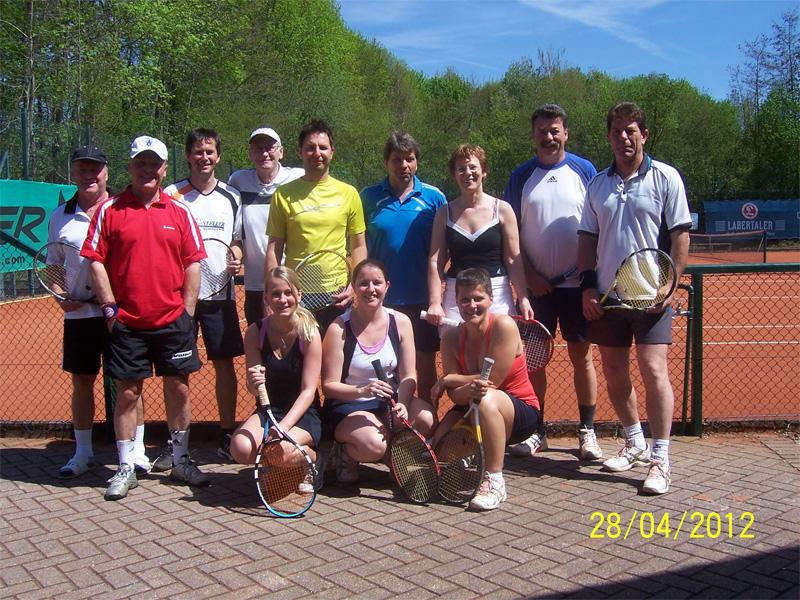 Teilnehmer Tennis Schleiferturnier 2012
